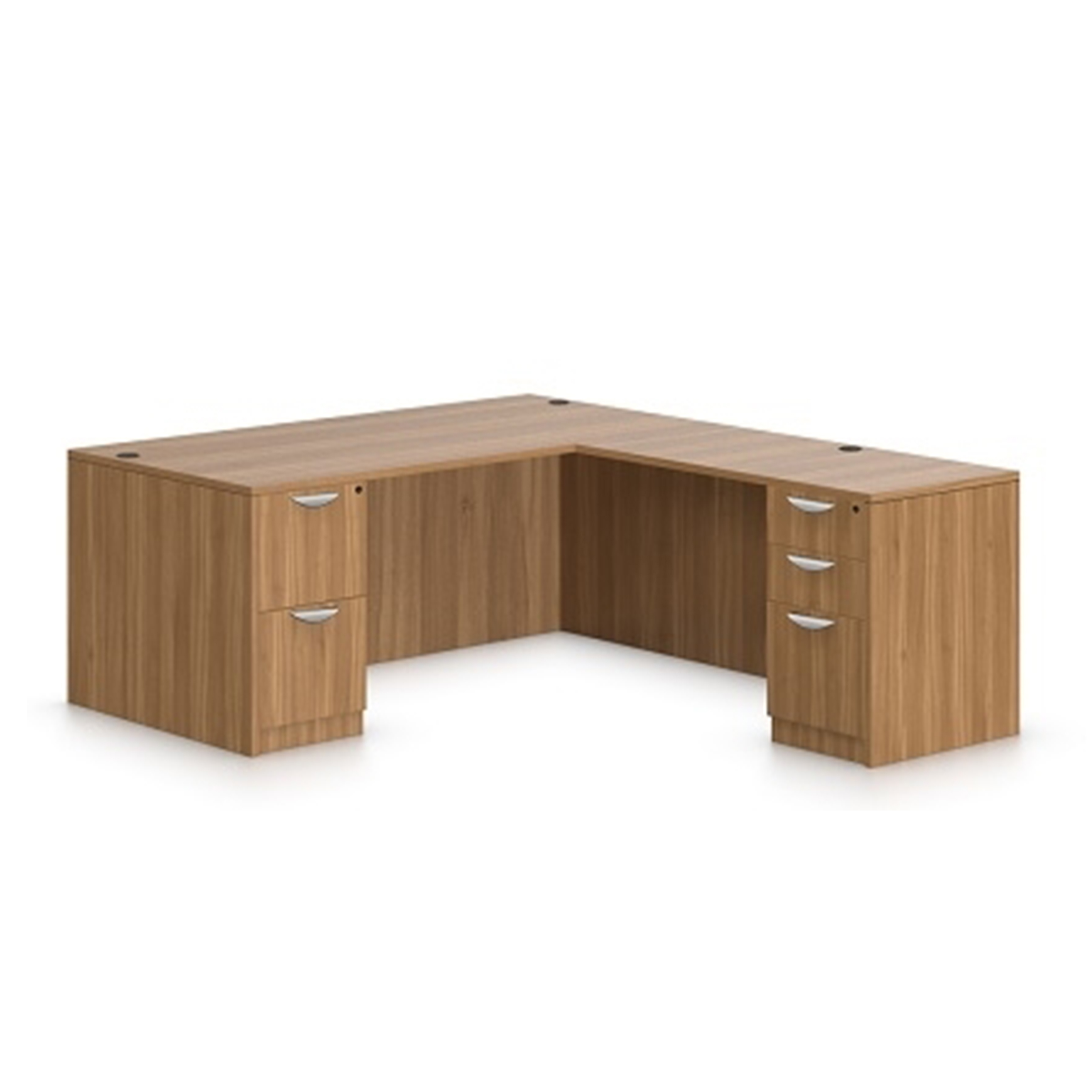 Otg Laminate L Shaped Desk With Drawers Used Office