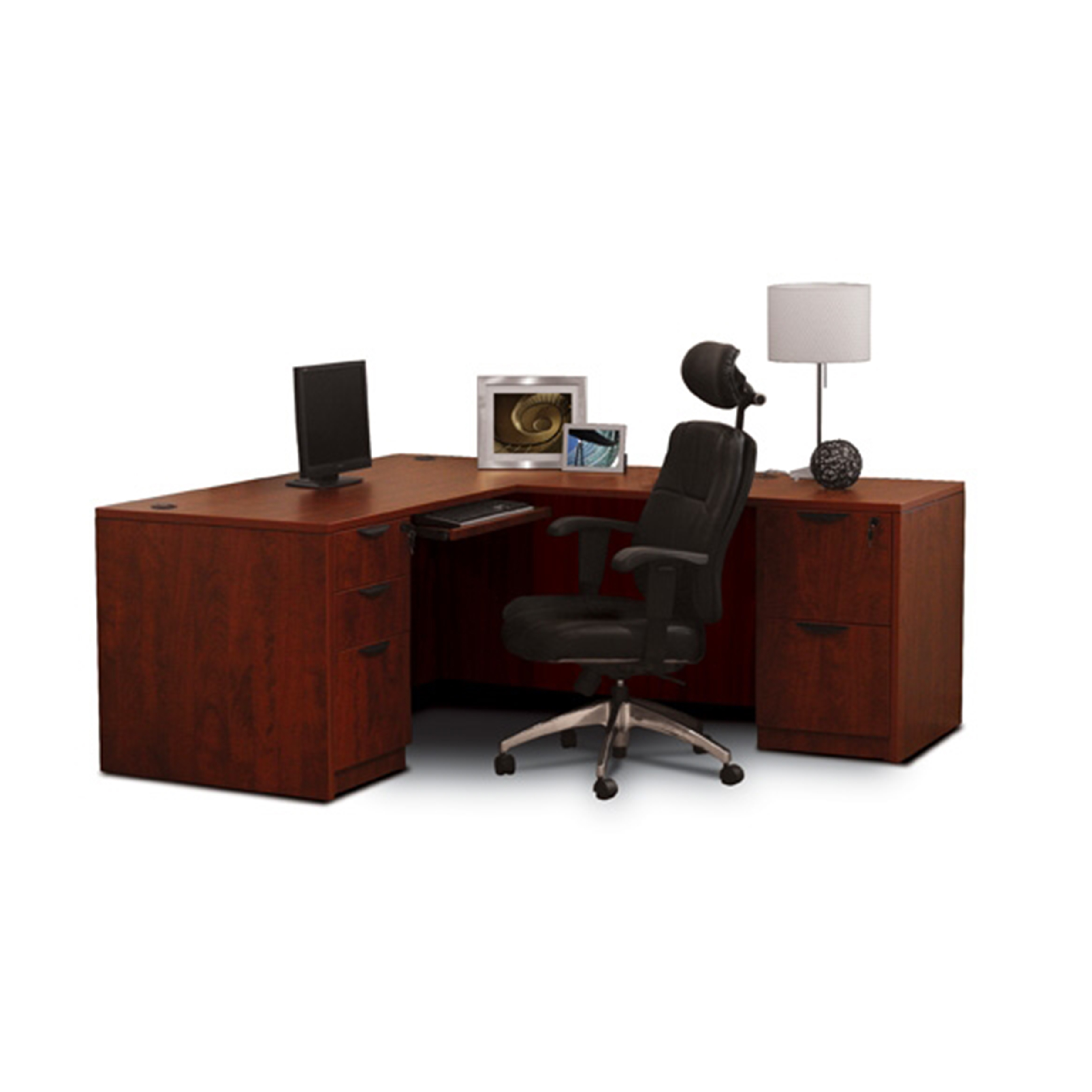 Otg Laminate L Shaped Desk With Drawers